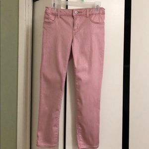 EUC GAP Pink Sparkle Stretch Jeggings, size 8